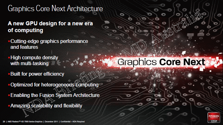 AMD Radeon HD 7000 seres graphics core next architecture