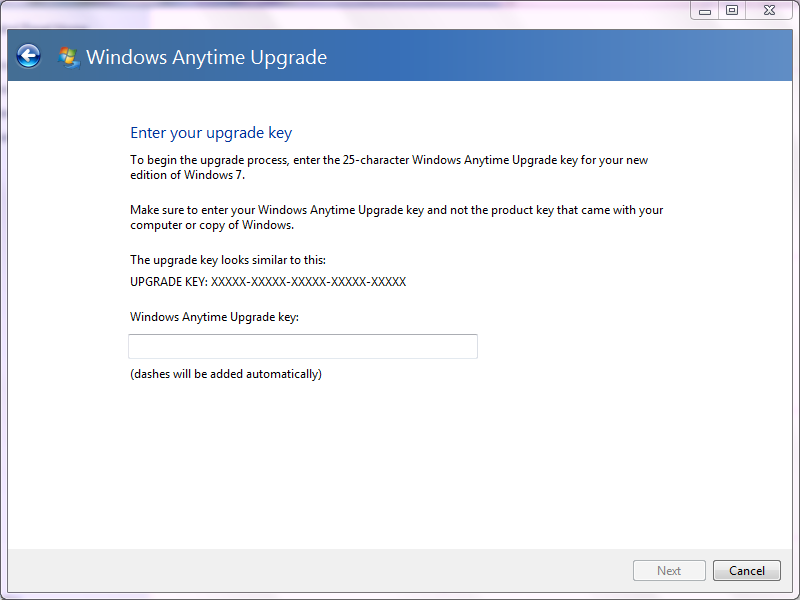 Windows 7 Home Premium Upgrade Key.