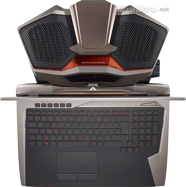 asus rog gx700 notebook and dock