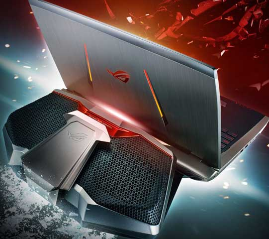 asus rog gx700 liquid cooled gaming notebook