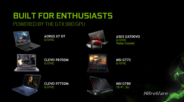 gaming notebooks powered by nvidia gtx980 gpu