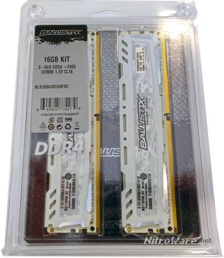 Crucial Ballistix Sport White DDR4-2400 16GB kit of two 8GB RAM.