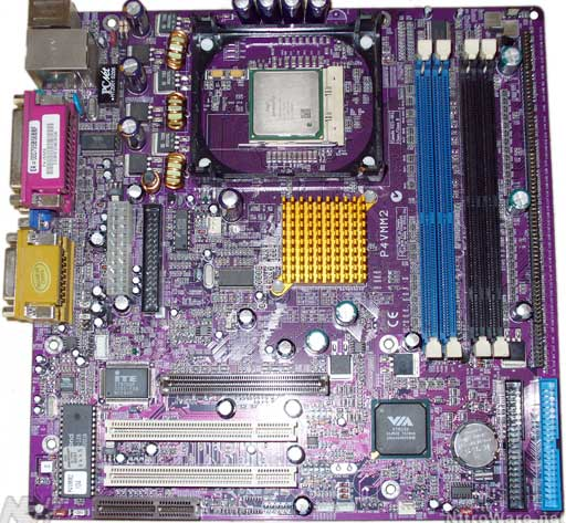 ECS P4VMM2 Mainboard for the Pentium 4 Processor with Integrated LAN - 2001