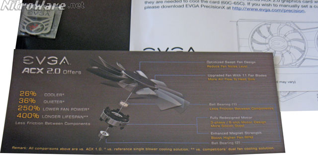 EVGA ACX 2.0 key features flyer included