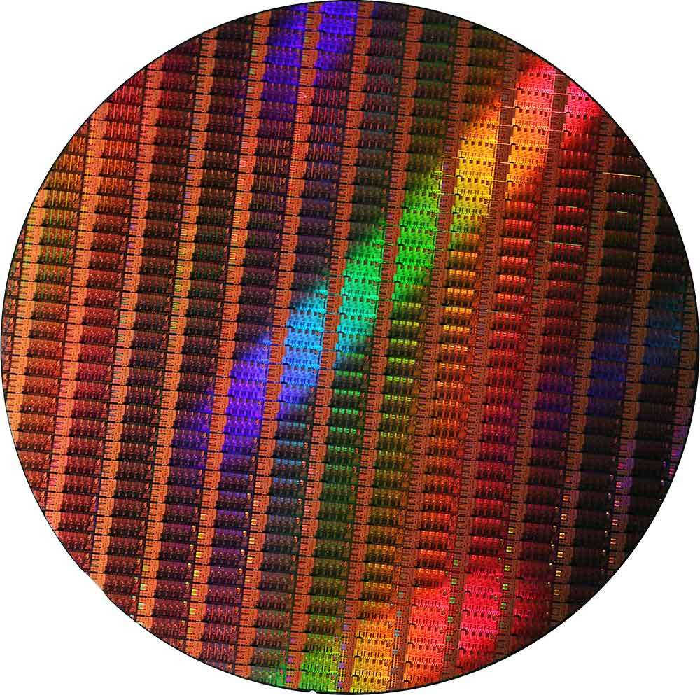 Intel 4th Gen Haswell CPU Die Wafer