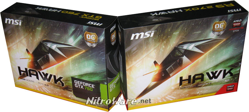MSI GeForce GTX 760 HAWK & MSI Radeon R9 270X HAWK box art