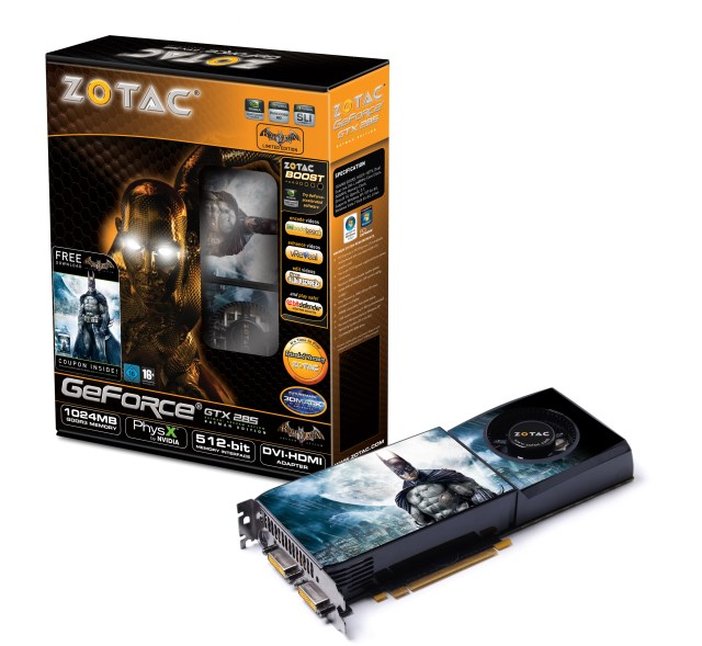 Zotac NVIDIA GeForce GTX 285 Batman Arkham Asylum Graphics Card