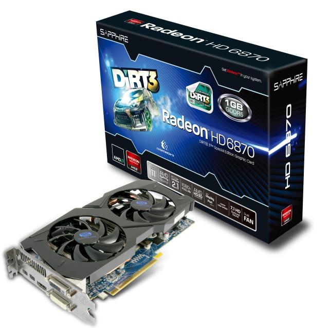 Sapphire AMD Radeon HD 6870 Dirt 3 Special Edition Graphics Card