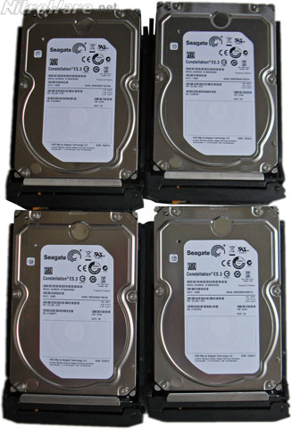Seagate NAS Constellation ES.3 disk drives