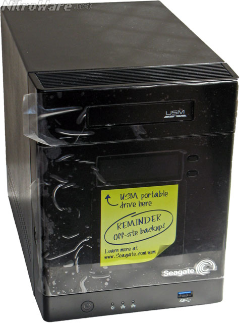 Seagate Business NAS backup sticker