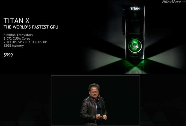 NVIDIA CEO Jensen Huang announces pricing of GeForce GTX TITAN X at NVIDIA's GPU Technology Conference 2015'